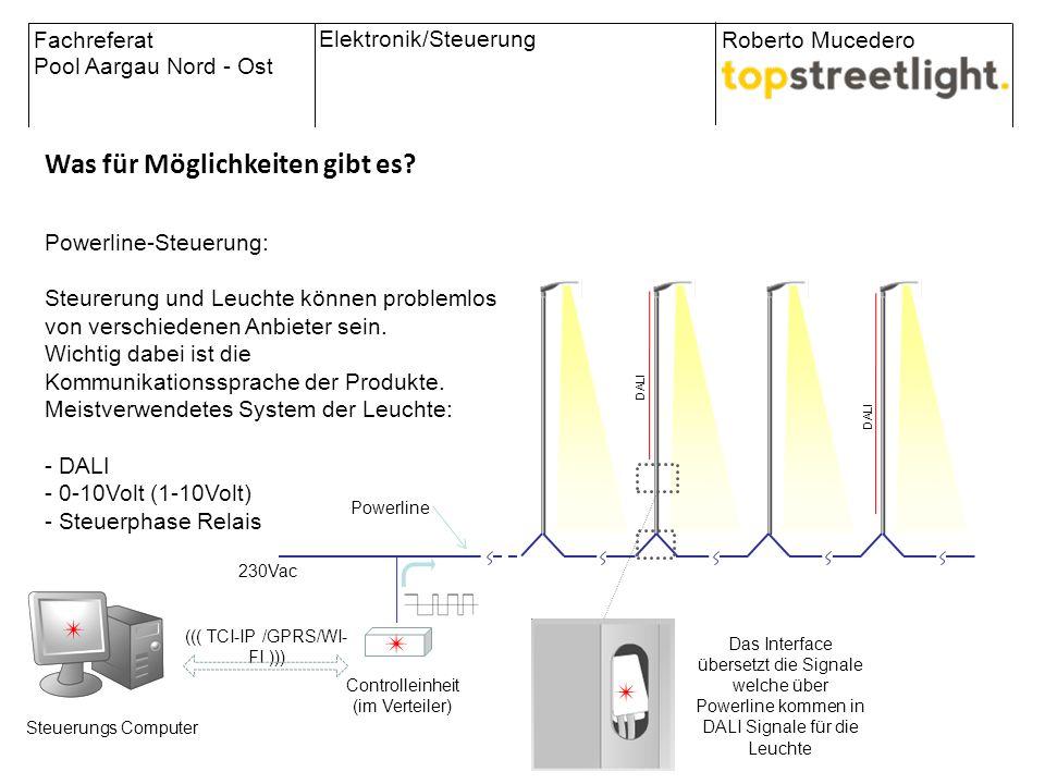 Fachreferat Pool Aargau Nord - Ost Roberto Mucedero Elektronik/Steuerung The City in the global net Was für Möglichkeiten gibt es? 230Vac Controlleinh