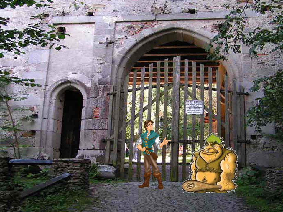 Du hast die Burg erreicht! Aber ein gar großes Tor versperrt dir den Weg!