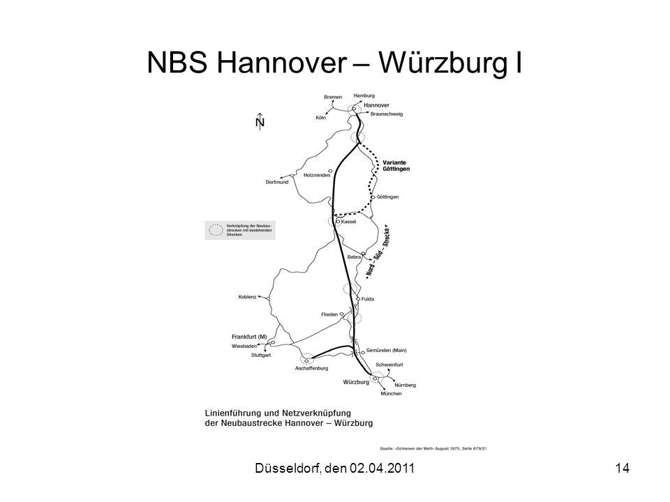Düsseldorf, den 02.04.201114 NBS Hannover – Würzburg I