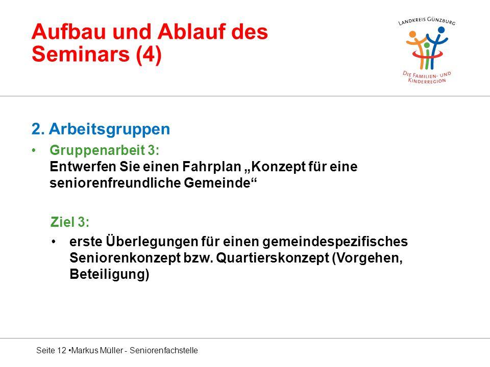 Aufbau und Ablauf des Seminars (4) 2.