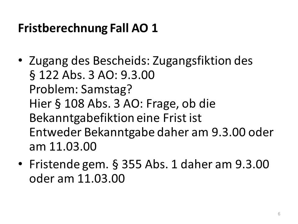 Fall AO 7: (BFH vom 19.10.2011, X R 29/10) Ein britischer Mediendesigner - wohnhaft in Deutschland - erzielt Einkünfte aus Gewerbebetrieb.