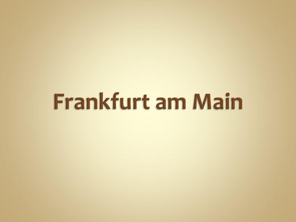 Frankfurt am Main ist eine der größten Städte der BRD.