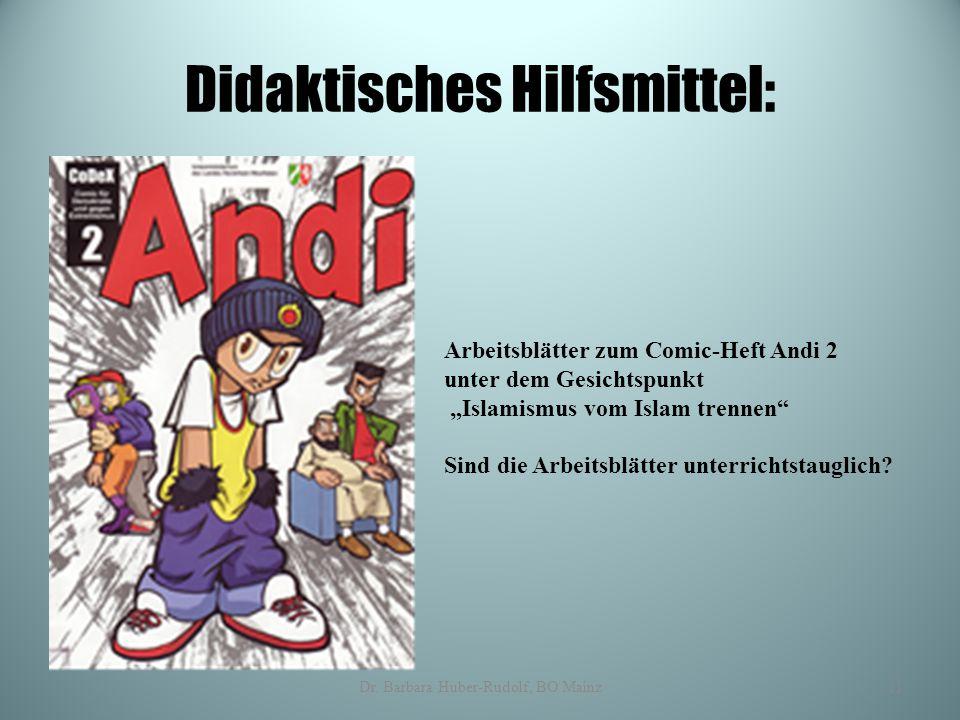 """Didaktisches Hilfsmittel: Arbeitsblätter zum Comic-Heft Andi 2 unter dem Gesichtspunkt """"Islamismus vom Islam trennen"""" Sind die Arbeitsblätter unterric"""