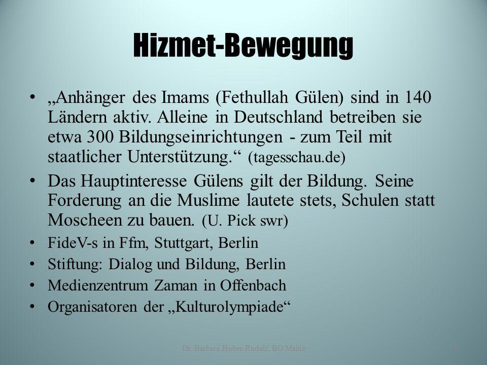 """Hizmet-Bewegung """"Anhänger des Imams (Fethullah Gülen) sind in 140 Ländern aktiv. Alleine in Deutschland betreiben sie etwa 300 Bildungseinrichtungen -"""