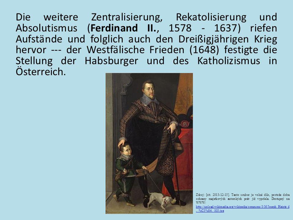 Leopold II.(1657 - 1705) – Kämpfe gegen die Tϋrken --- gewann weitere Gebiete (u.