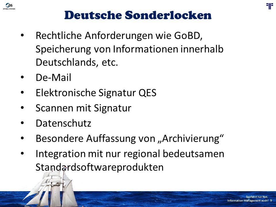 Seefahrt tut Not.Information Management auch.