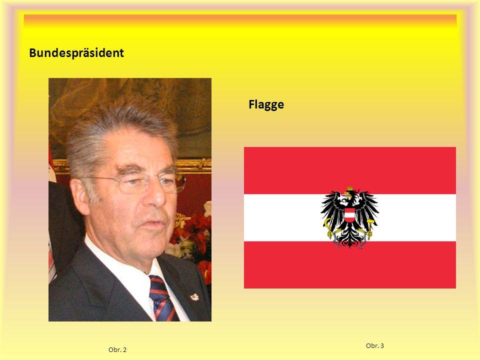 Bundespräsident Flagge Obr. 2 Obr. 3