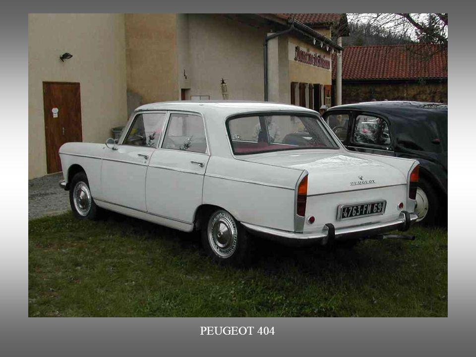 PEUGEOT 404 ab 1960 bis 1972 produziert und durch den Italiener Pininfarina entworfen.