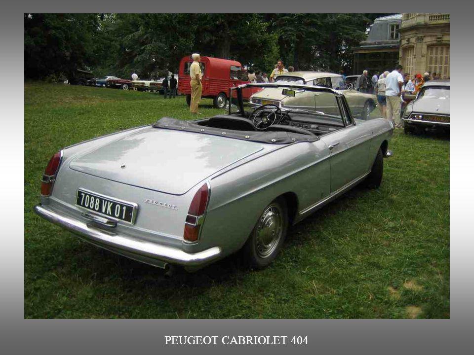 PEUGEOT CABRIOLET 404 : von 1961 bis 1968. Auch durch Pininfarina entworfen.