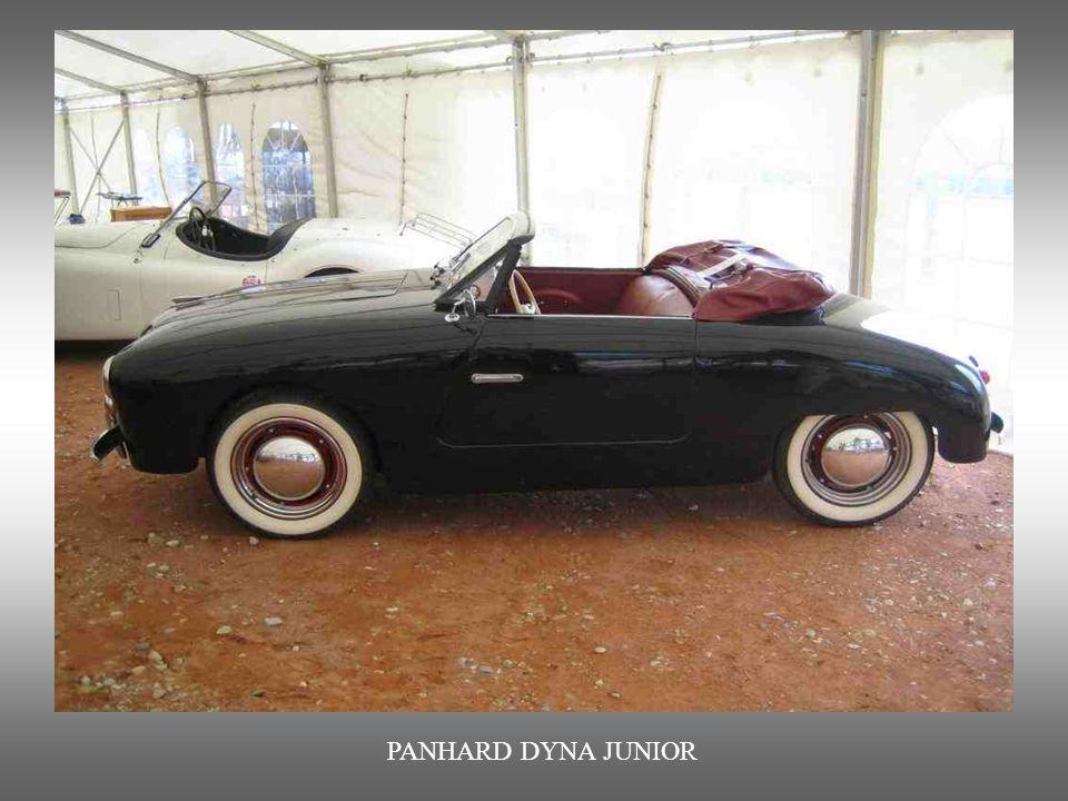 PANHARD DYNA JUNIOR : von 1952 bis 1956. Sprach vor allem junge Autofahrer an.