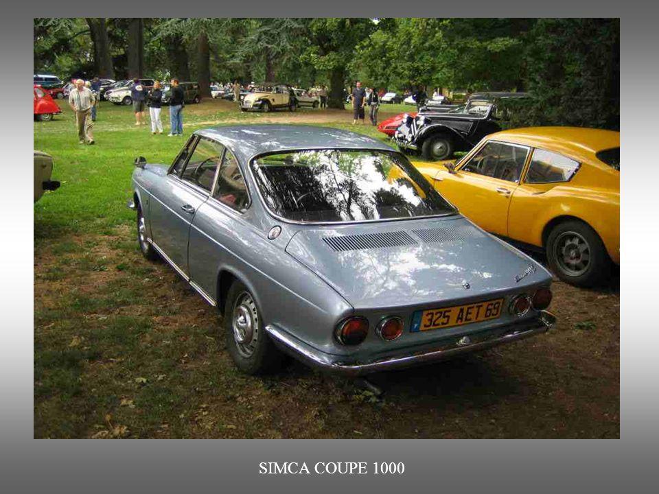SIMCA COUPE 1000 : Dieses sportliche Modell ist Nachfolger der Berline-Version der 60ziger Jahre. Entworfen durch den Italiener Bertone.