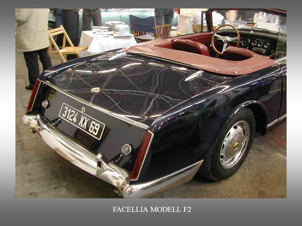 FACELLIA MODELL F2 : Mit Volvo-Motor ausgestattet. Das Abenteuer « Facel « dauerte nur von 1954 bis 1964. Diese französische Automobilmarke stellte vo