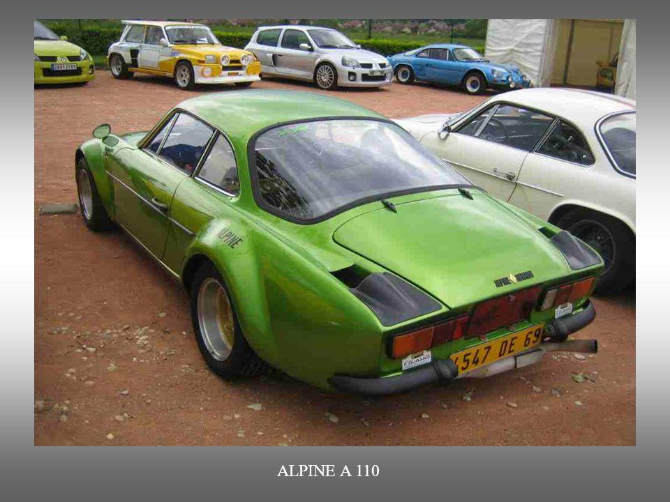 ALPINE A 110 : Produziert von 1960 bis 1977. Hervorrragender und vor allem in der Rallyewelt geschätzter Sportwagen.
