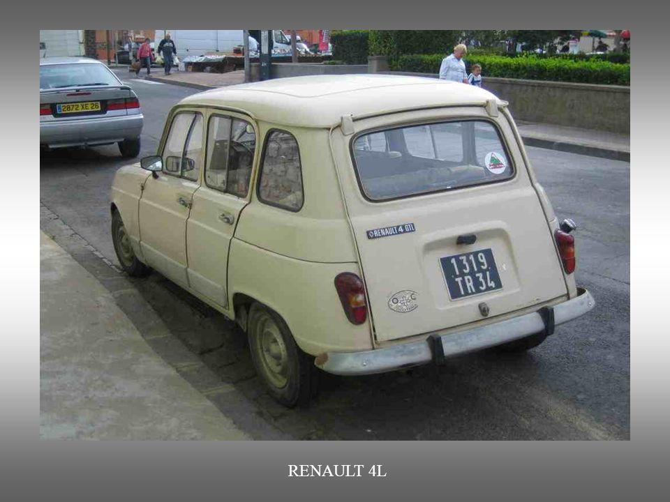 RENAULT 4L : Erstes mit Vorderantrieb ausgestattetes Auto von Renault. Von 1961 bis 1992.
