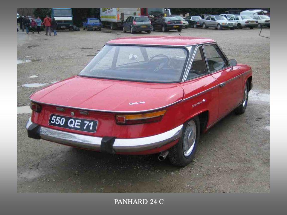 PANHARD 24C : Coupé hergestellt von 1963 bis 1967 (Aufkauf von Panhard durch Citroën)