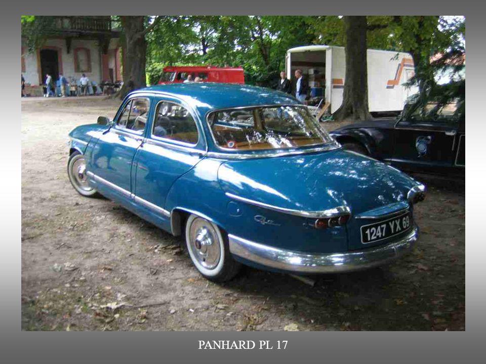 PANHARD PL 17: wurde bis 1965 produziert. Luftgekühlter Zweizylindermotor, Hubraum : 850 Cm3.Ziemlich laut.
