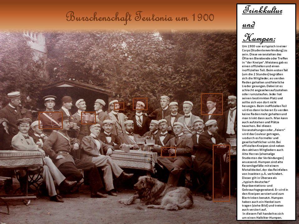 Trinkkultur und Humpen: Um 1900 war es typisch in einer Corps (Studentenverbindung) zu sein.