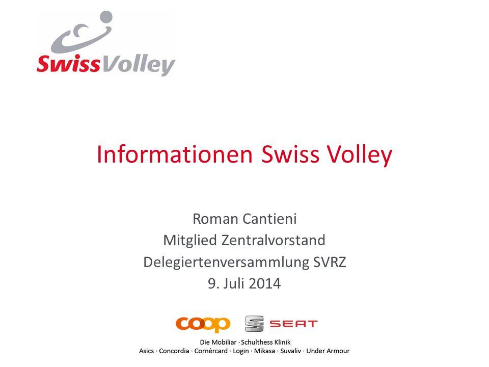Informationen Swiss Volley Roman Cantieni Mitglied Zentralvorstand Delegiertenversammlung SVRZ 9.