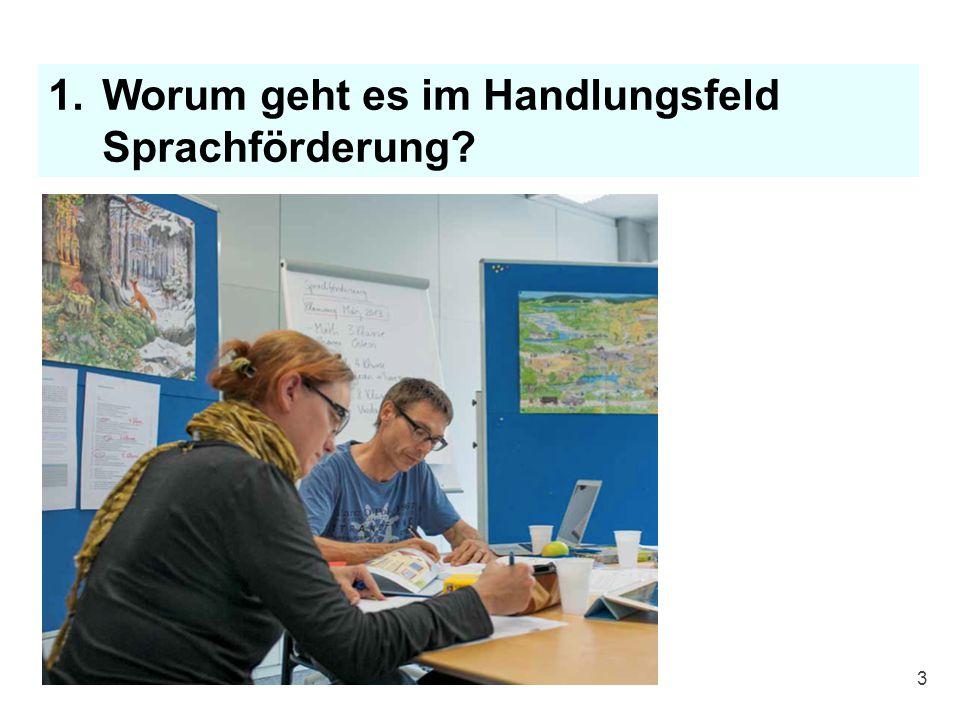 1.Worum geht es im Handlungsfeld Sprachförderung? 3