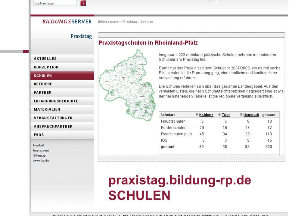 Folie 17 praxistag.bildung-rp.de SCHULEN