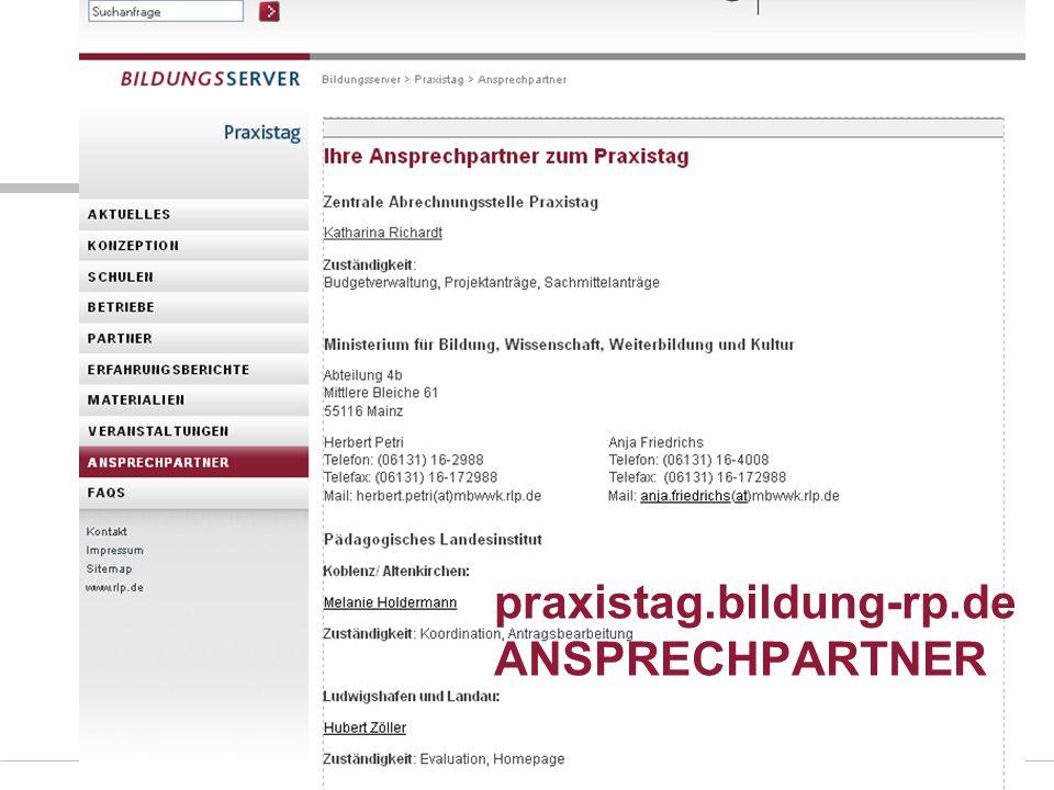 Folie 46 praxistag.bildung-rp.de ANSPRECHPARTNER