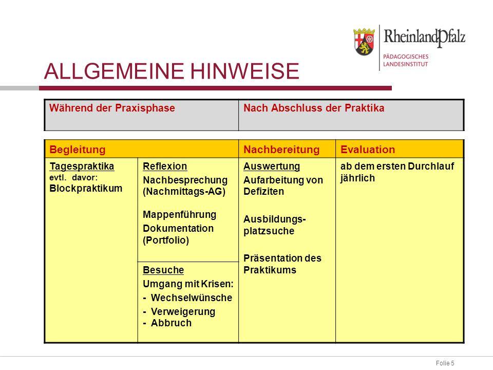 Folie 6 ORGANISATIONSMODELLE 7/2 8/1 9/1 8/2 9/2 Schulische Berufsorientierung VBO -V- VBO -N- Praxistag VBO -V- VBO -N- Praxistag