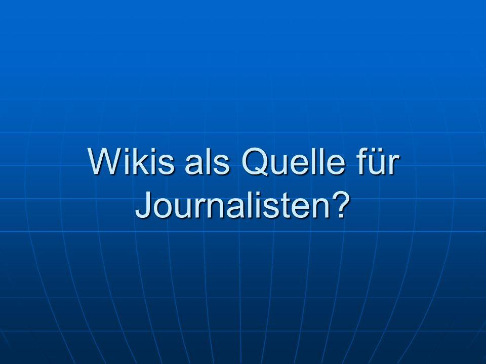 Wikis als Quelle für Journalisten