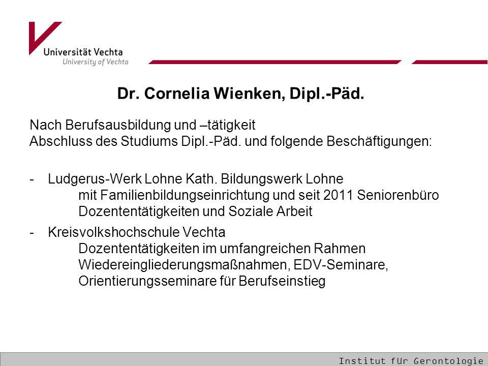 Dr.Cornelia Wienken, Dipl.-Päd.