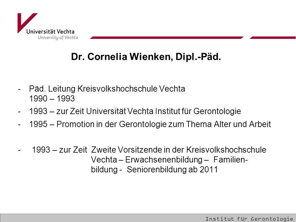 Dr.Cornelia Wienken, Dipl.-Päd. -Päd.
