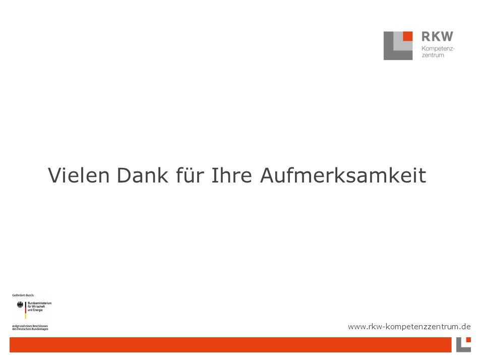 www.rkw-kompetenzzentrum.de Vielen Dank für Ihre Aufmerksamkeit