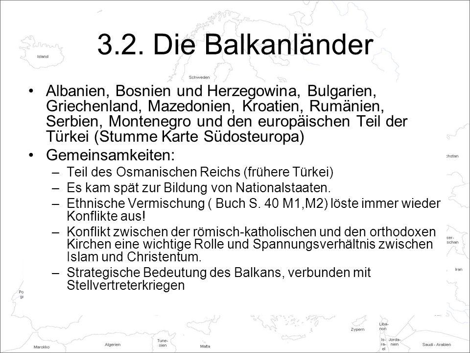 Arbeitsaufgaben (Entweder im Buch anzeichnen oder ins Heft schreiben) Wie entstand der Vielvölkerstaat Jugoslawien.
