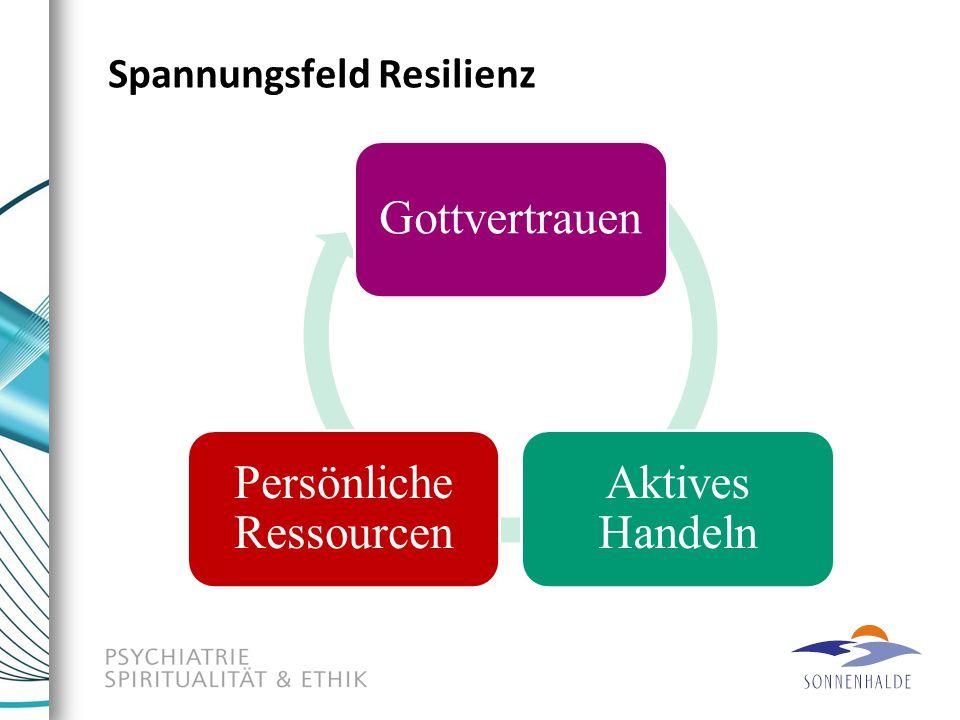 Spannungsfeld Resilienz Gottvertrauen Aktives Handeln Persönliche Ressourcen