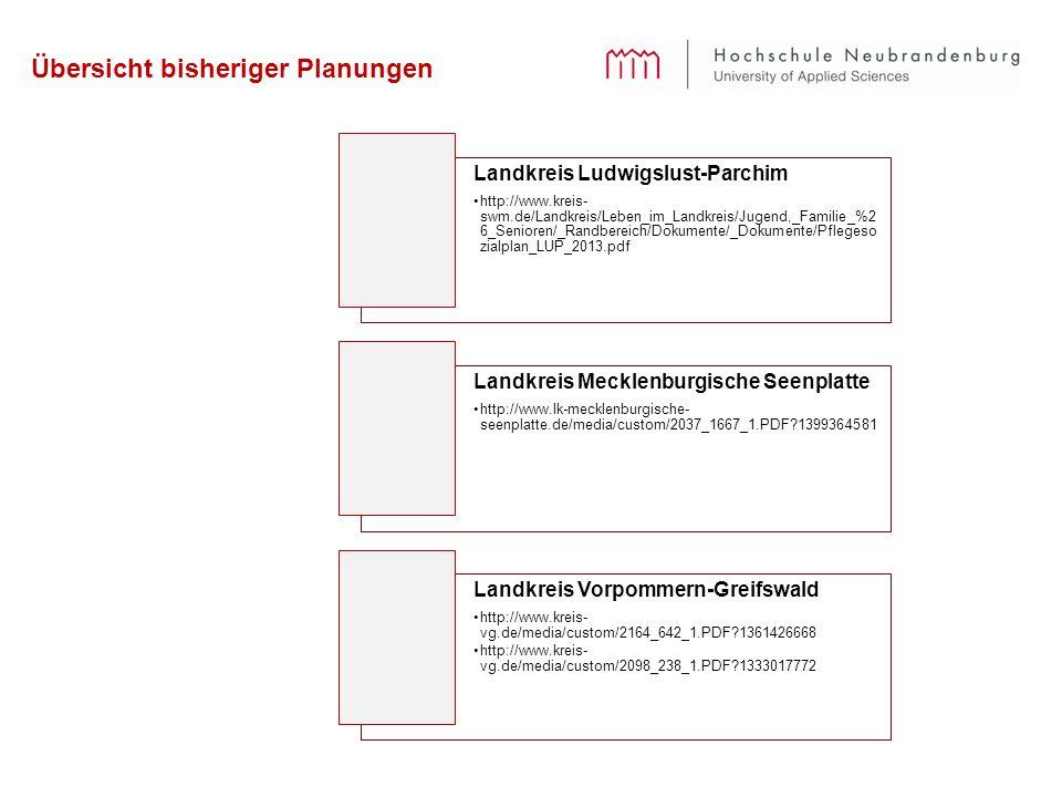 Übersicht bisheriger Planungen Landkreis Ludwigslust-Parchim http://www.kreis- swm.de/Landkreis/Leben_im_Landkreis/Jugend,_Familie_%2 6_Senioren/_Rand