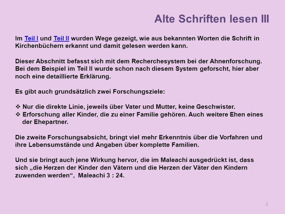 """Alte Schriften lesen III 3 1.Antwort von http://wiki.familysearch.org/ de """"Der Ururgroßvater 2."""