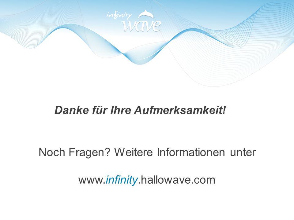 Danke für Ihre Aufmerksamkeit! Noch Fragen? Weitere Informationen unter www.infinity.hallowave.com