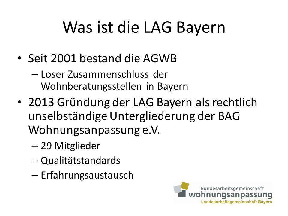 Wohnberatungsangebote in Bayern