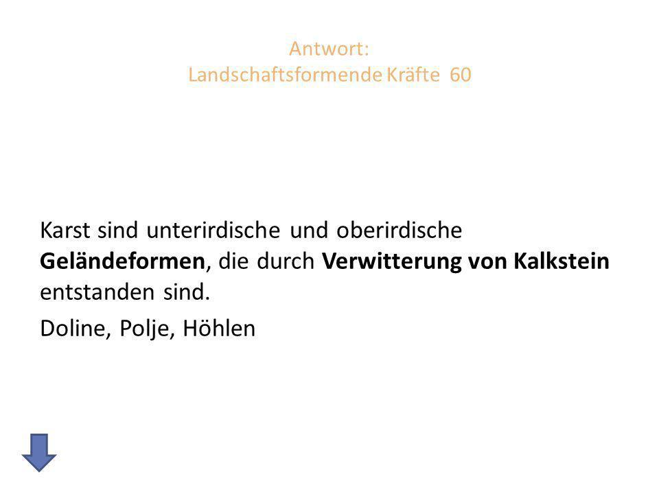 """Landschaftsformende Kräfte 70 Erkläre den Begriff """"Gezeiten ."""