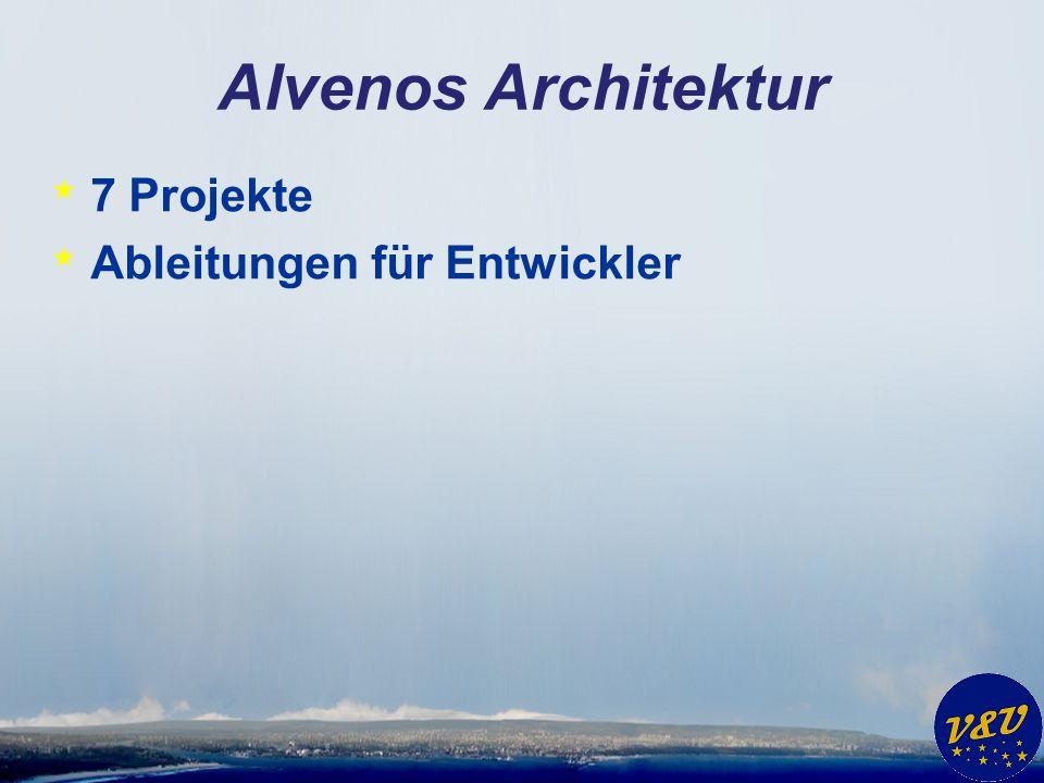 Alvenos Architektur * 7 Projekte * Ableitungen für Entwickler