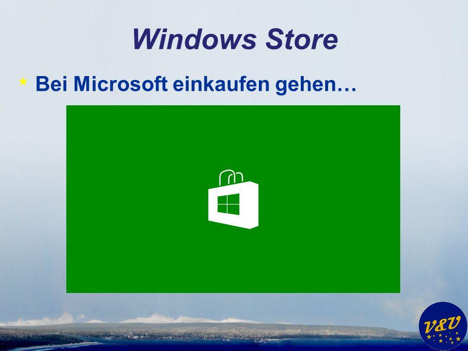 Windows Store * Bei Microsoft einkaufen gehen…