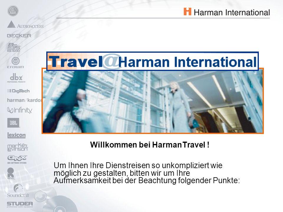 Willkommen bei HarmanTravel .