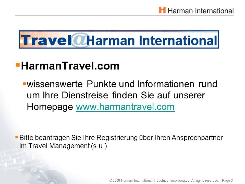 © 2008 Harman International Industries, Incorporated. All rights reserved. Page 3  HarmanTravel.com  wissenswerte Punkte und Informationen rund um I