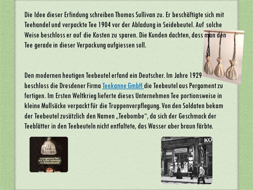 Ein Mitarbeiter der Firma Adolf Rambold erfand den beliebten Doppelkammerteebeutel und die Teebeutelpackmaschine.
