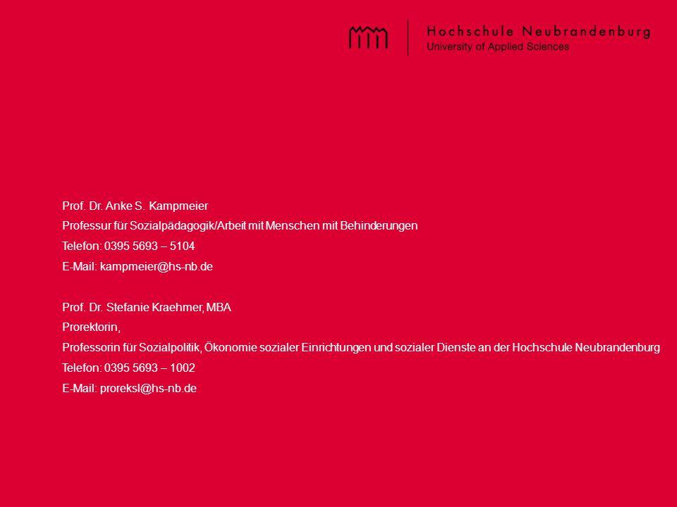 Titel der PPT – im Master einzugeben Prof. Dr. Anke S. Kampmeier Professur für Sozialpädagogik/Arbeit mit Menschen mit Behinderungen Telefon: 0395 569