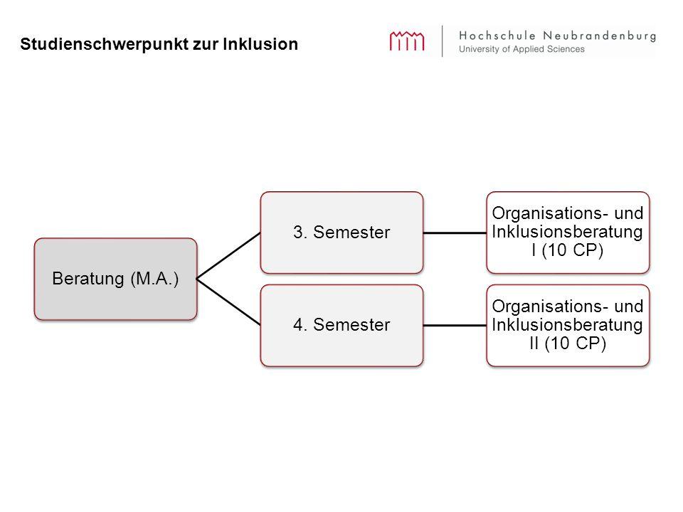 Studienschwerpunkt zur Inklusion Beratung (M.A.)3.
