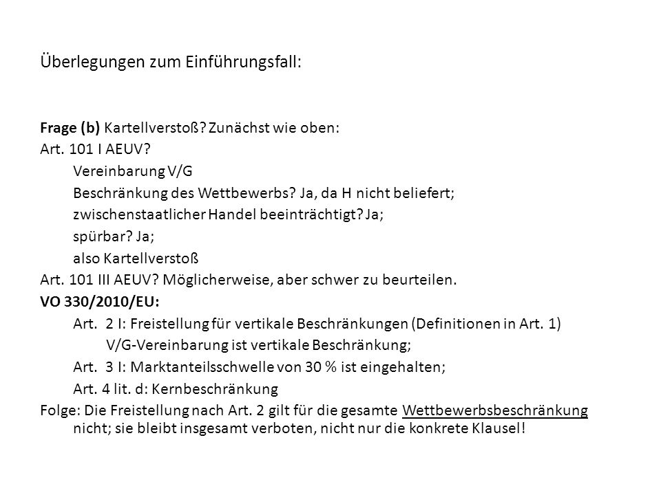 4.Systematik der GFVOen Art. 1: Definitionen Art.