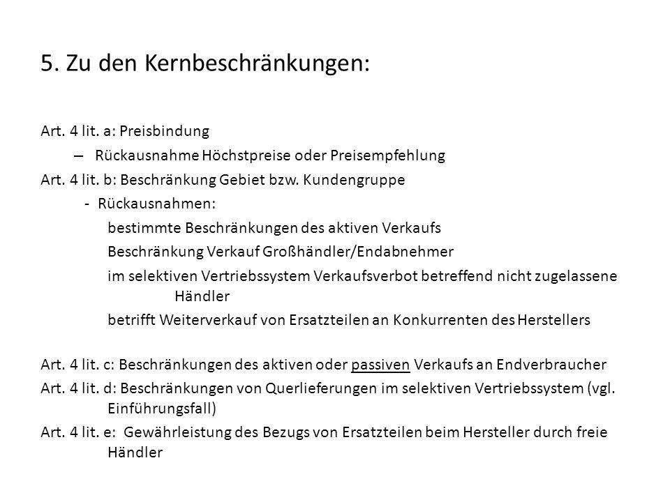 6.die wichtigsten GFVOen der Kommission im Überblick: VO Nr.