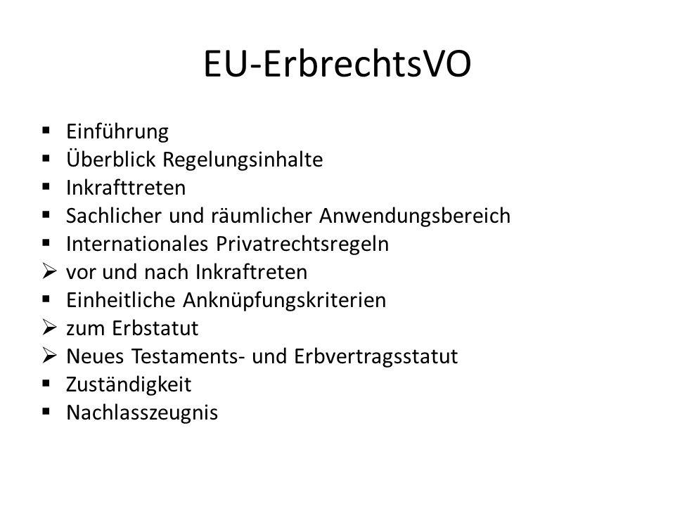Nachteile der EU-ErbVO.