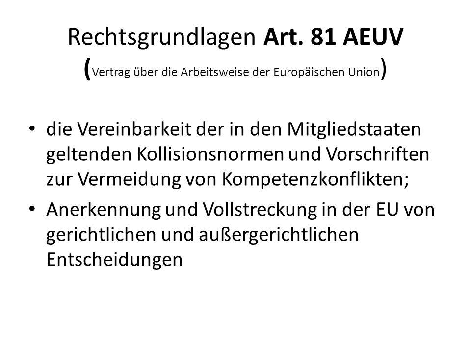EU-ErbrechtsVO Inkrafttreten  Verordnung = unmittelbar anwendbares Recht  Beschluss des EU Parlaments und Rates vom 4.7.2012, veröffentlicht am 20.07.2012  Inkrafttreten Art.