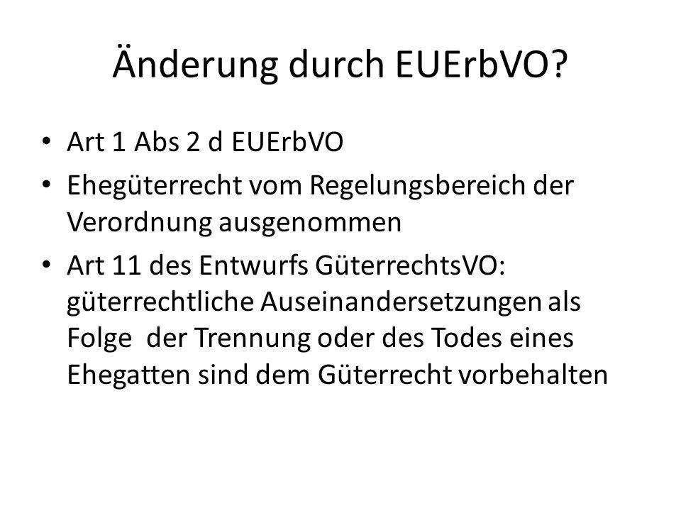Änderung durch EUErbVO.