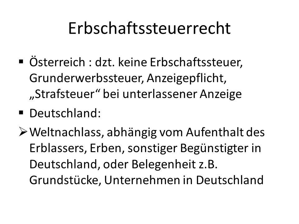 Erbschaftssteuerrecht  Österreich : dzt.